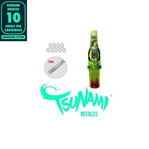 7CM Tsunami Needles Curved Magnum 10unid