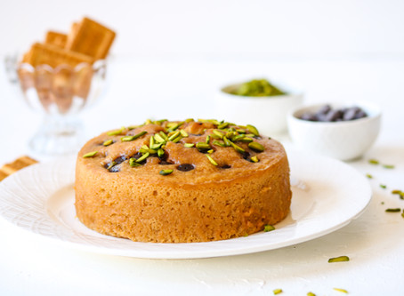 No-Oven Parle-G Chocolate Chip Cake