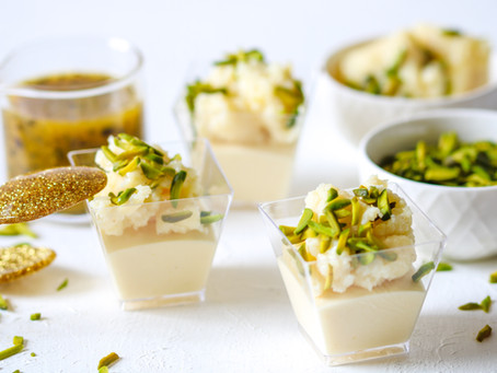 Passionfruit Kalakand Mousse Cups