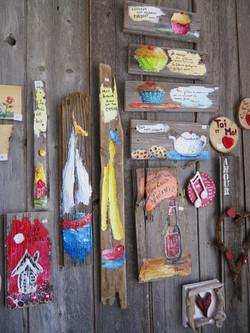 Peinture sur bois de grange