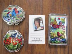 Miroirs et porte cartes S.Claveau