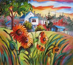 Un automne plein de soleil  huile 40x40.jpg
