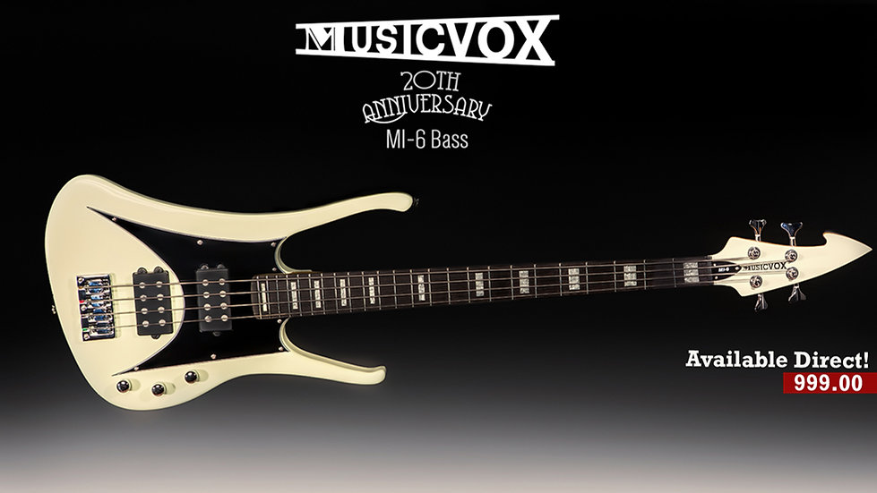 20th Anniversary MI-6 Bass Vintage Cream