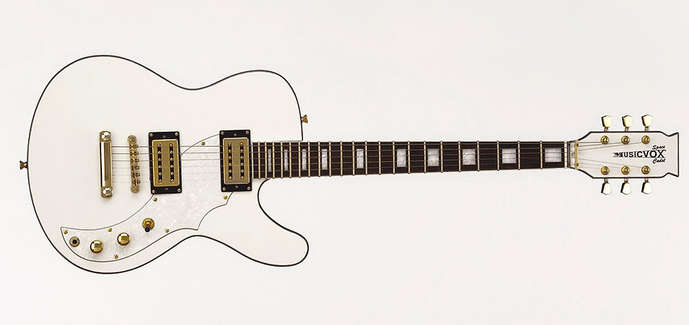 Limited White/Gold Hardware Space Cadet Guitar