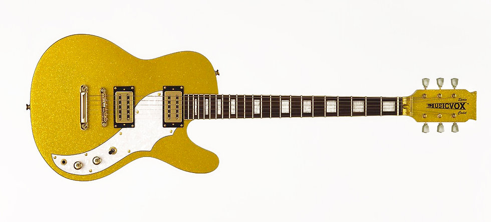 Gold Super Sparkle Space Cadet Guitar
