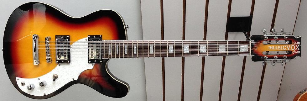 Three Tone Sunburst Space Cadet 12 String Guitar