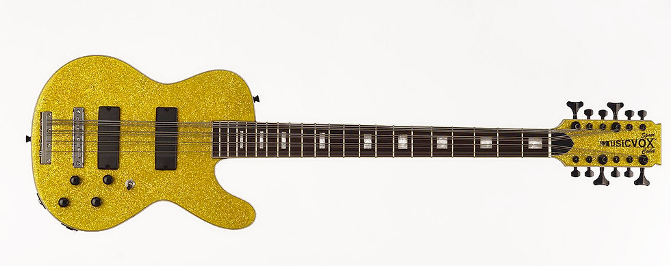 Gold Super Sparkle Space Cadet 12 String Bass Special Configuration
