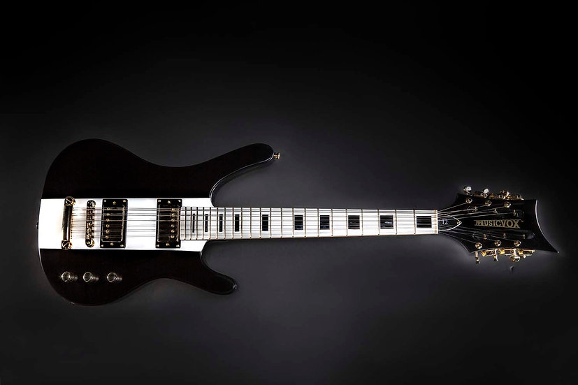 Black and White Reverse MI-5 12 String Guitar