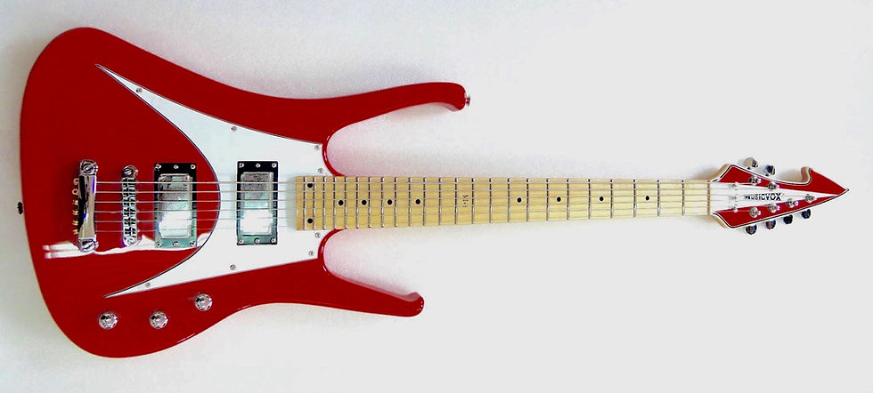 Competition Red MI-6 Custom 6 String Bass Guitar