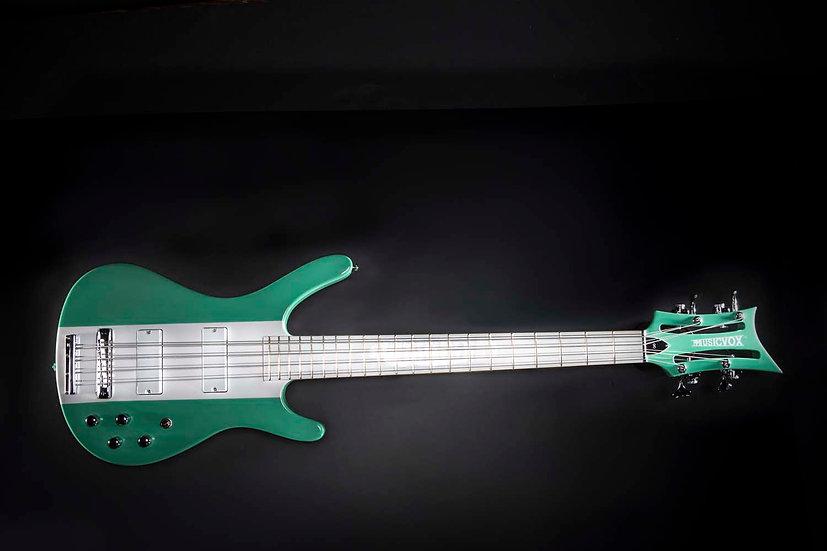 Seafoam Green Reverse MI-5 Momo 8 String Bass