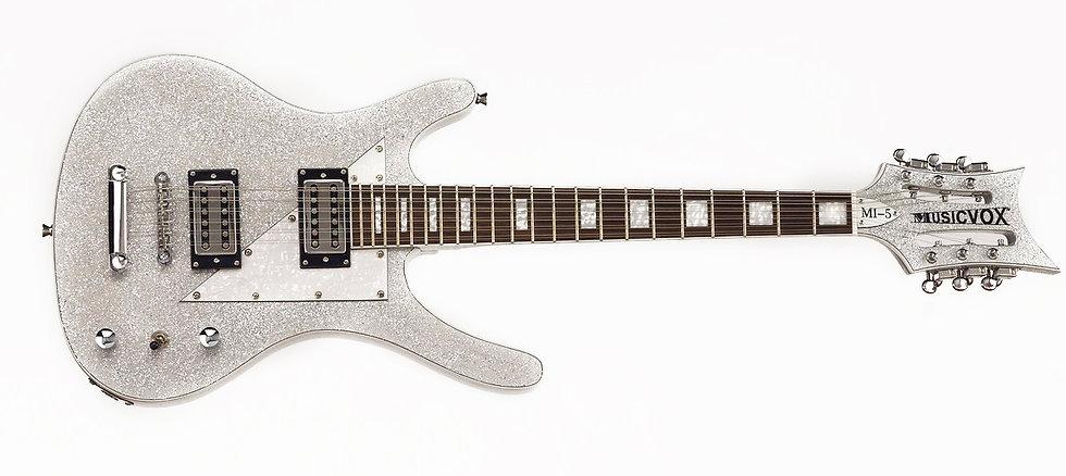 Silver sparkle MI-5 12 string guitar