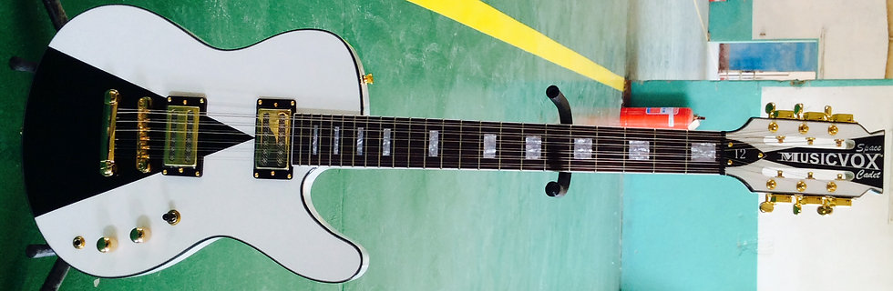 White Space Cadet 12 St Custom Guitar