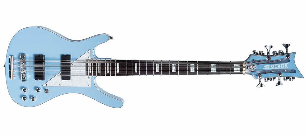 "Sky Blue MI-5 12 String Bass 34"" Scale"