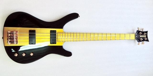 "Black and Gold Reverse MI-5 34"" Custom Bass"