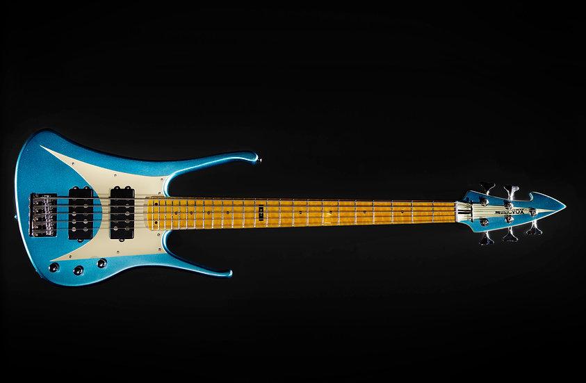 "Light Blue Metallic MI-6 34"" 5 String Custom Bass"