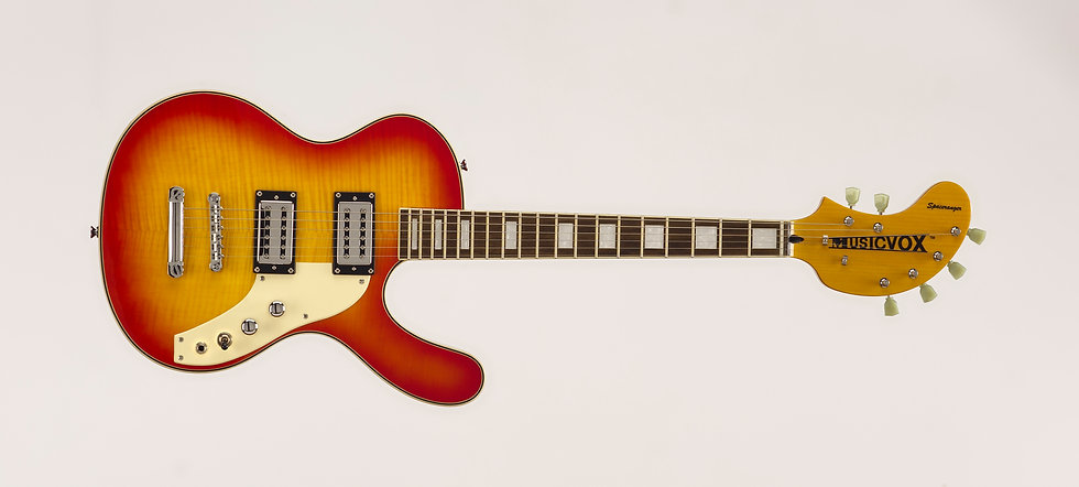 Cherry Sunburst Flame Top Spaceranger Guitar
