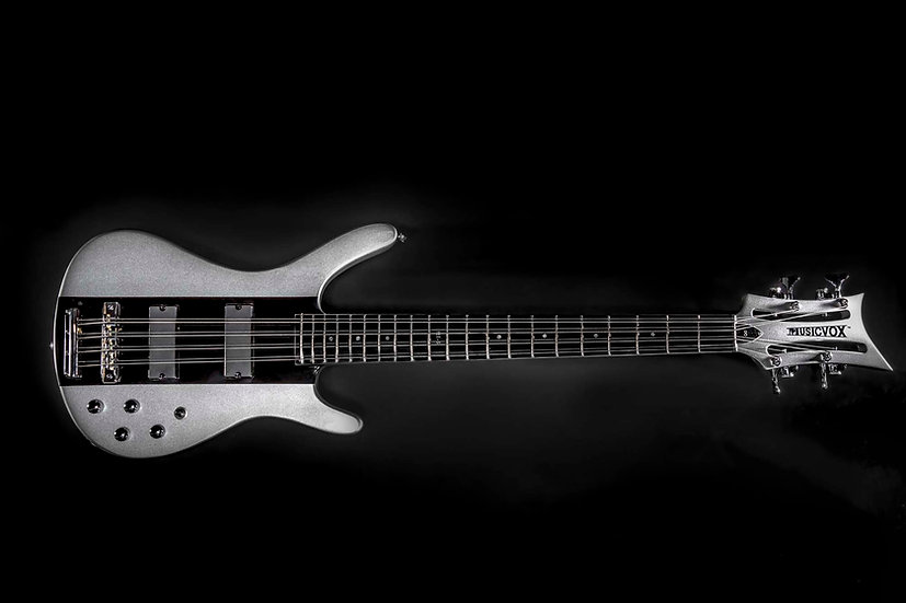 Silver Silk Metallic Reverse MI-5 Momo 8 String Bass