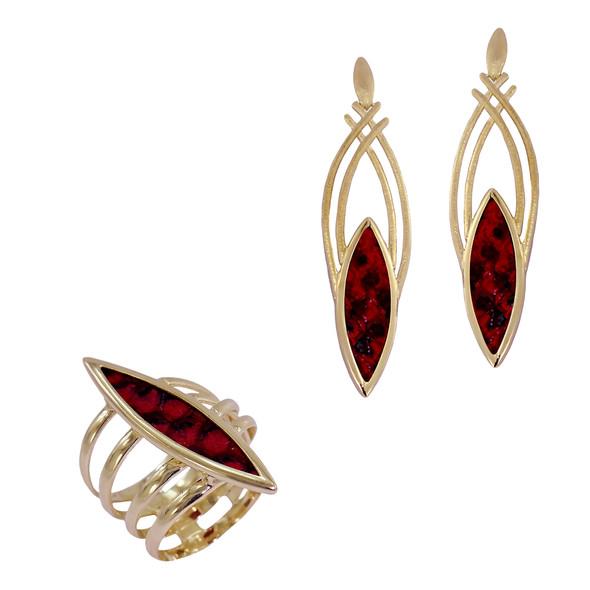 7063 earrings $17,63 / 1373 ring $31,50