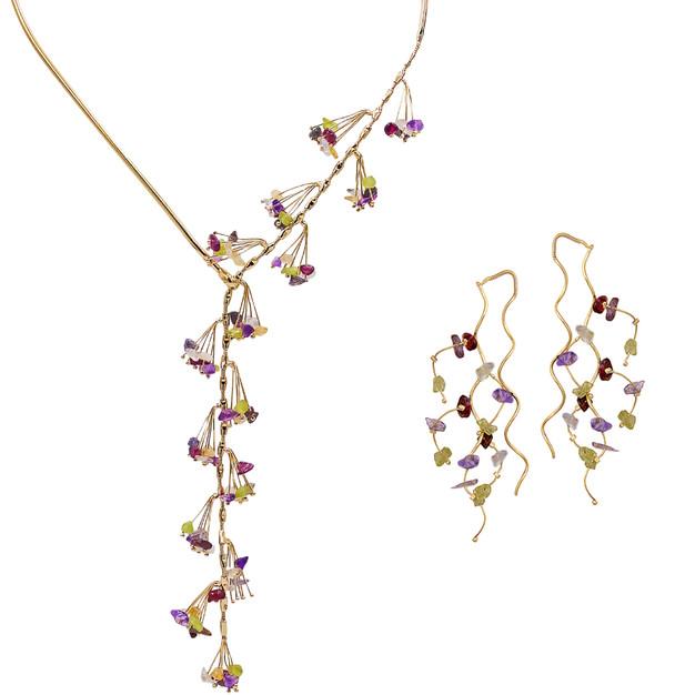 3293 necklace-$48,00 / 2427 earrings-$12,80