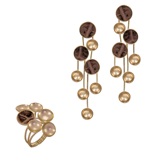 1355 ring $21,38 / 7050 earrings $26,63