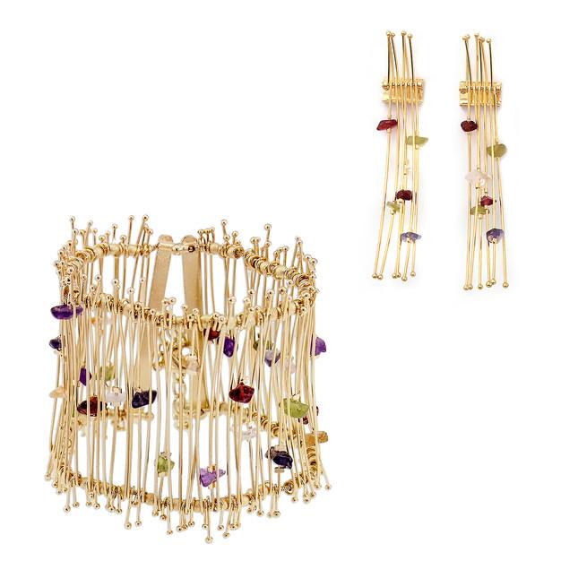 4263p bracelet-$61,25 / 2492 earrings-$10,13