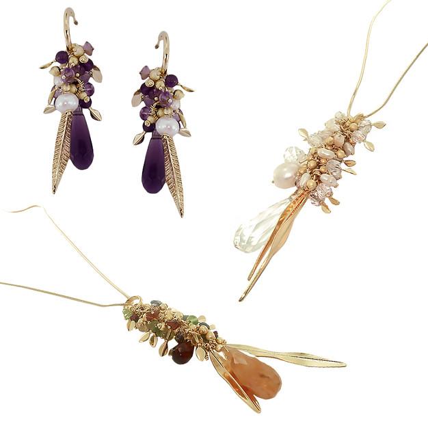 3454 necklace $36,75 / 2807 earrings $15,12