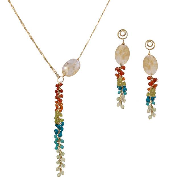 3852 necklace $27,38 / 7521 earrings $18,75