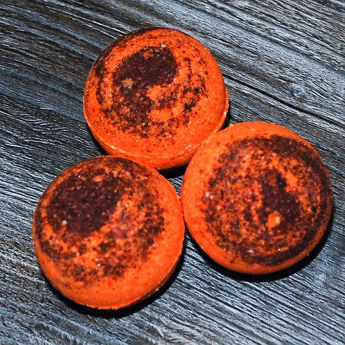 Бомбочки для ванны с эфирным маслом персика - 2 шт