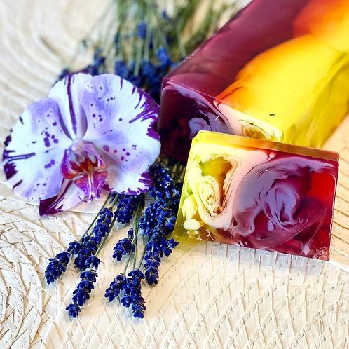 """Натуральное мыло """"Орхидея и лаванда"""""""