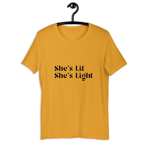 She's Lit She's Light Unisex T-Shirt