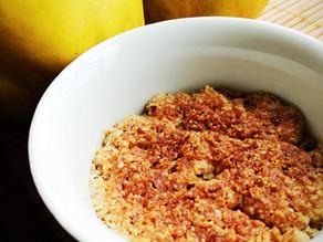 Crumble de marmelo e amêndoa