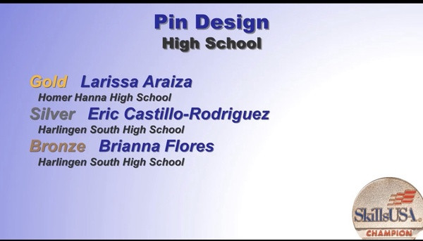 Pin Design 1st Place