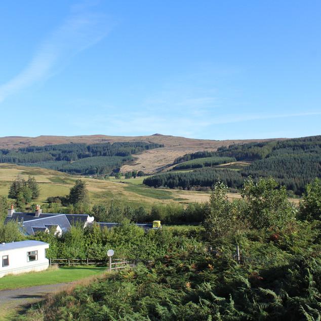 View over glen