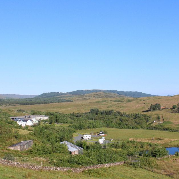 The site in relation to the pond and the farm house