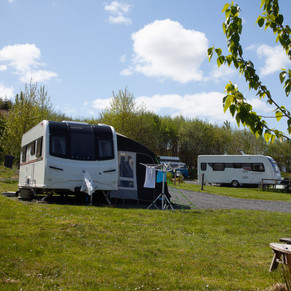 Plenty of space for caravan/campervan/motorhome, awning and car parking