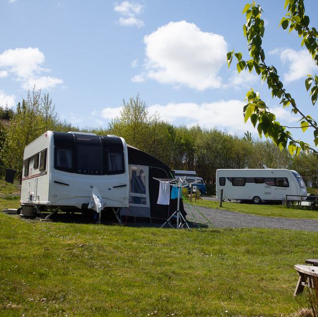 Plenty of space for caravan/campervan/motorhome, awning and car parking