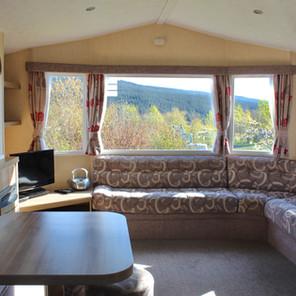 Caravan lounge area