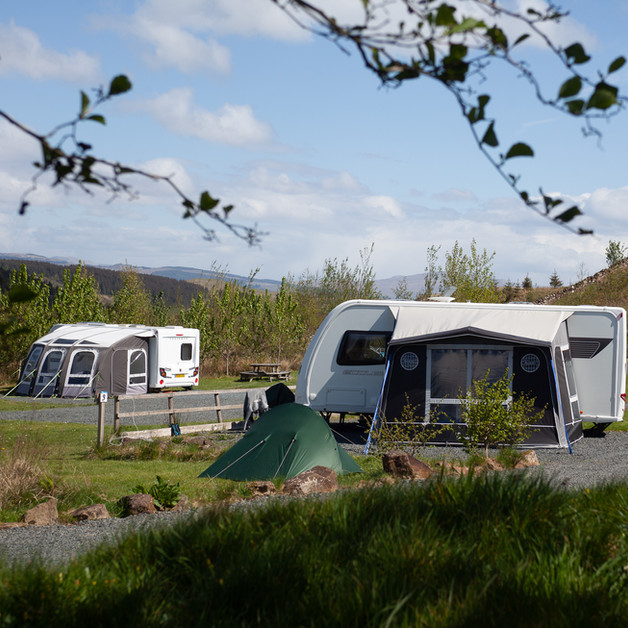 Caravans with space for awnings