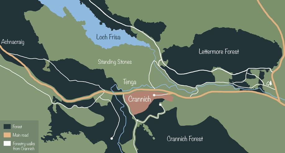 Crannich walks map