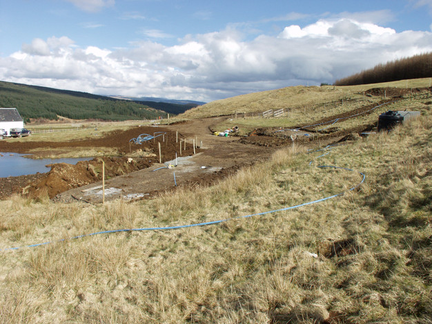Caravan site construction