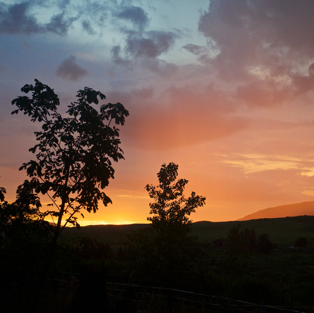 Hazy sunset at Crannich