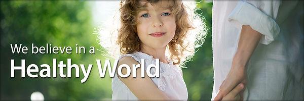 We believe in a Healthy World Energetix Stock Image