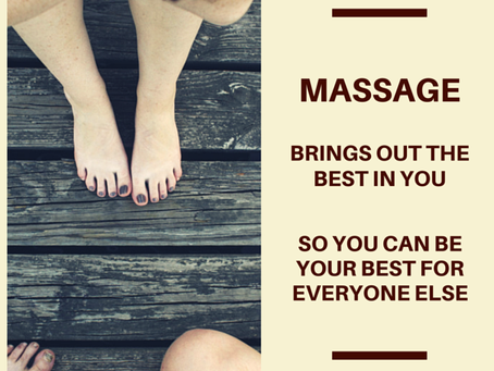 Why does massage bring out the best in us?