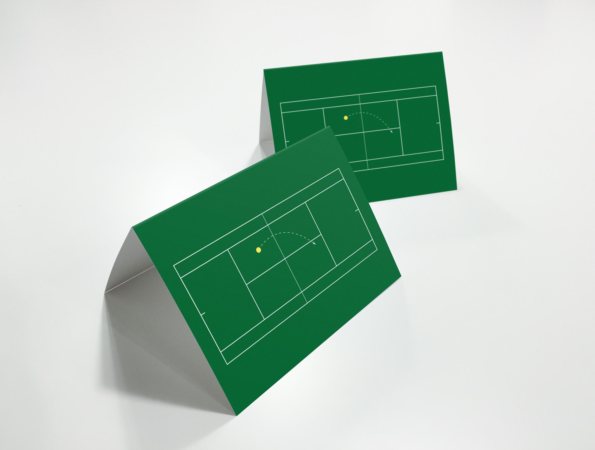 Wimbledon tennis moving card