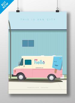 Van City, Vancouver, illustration,