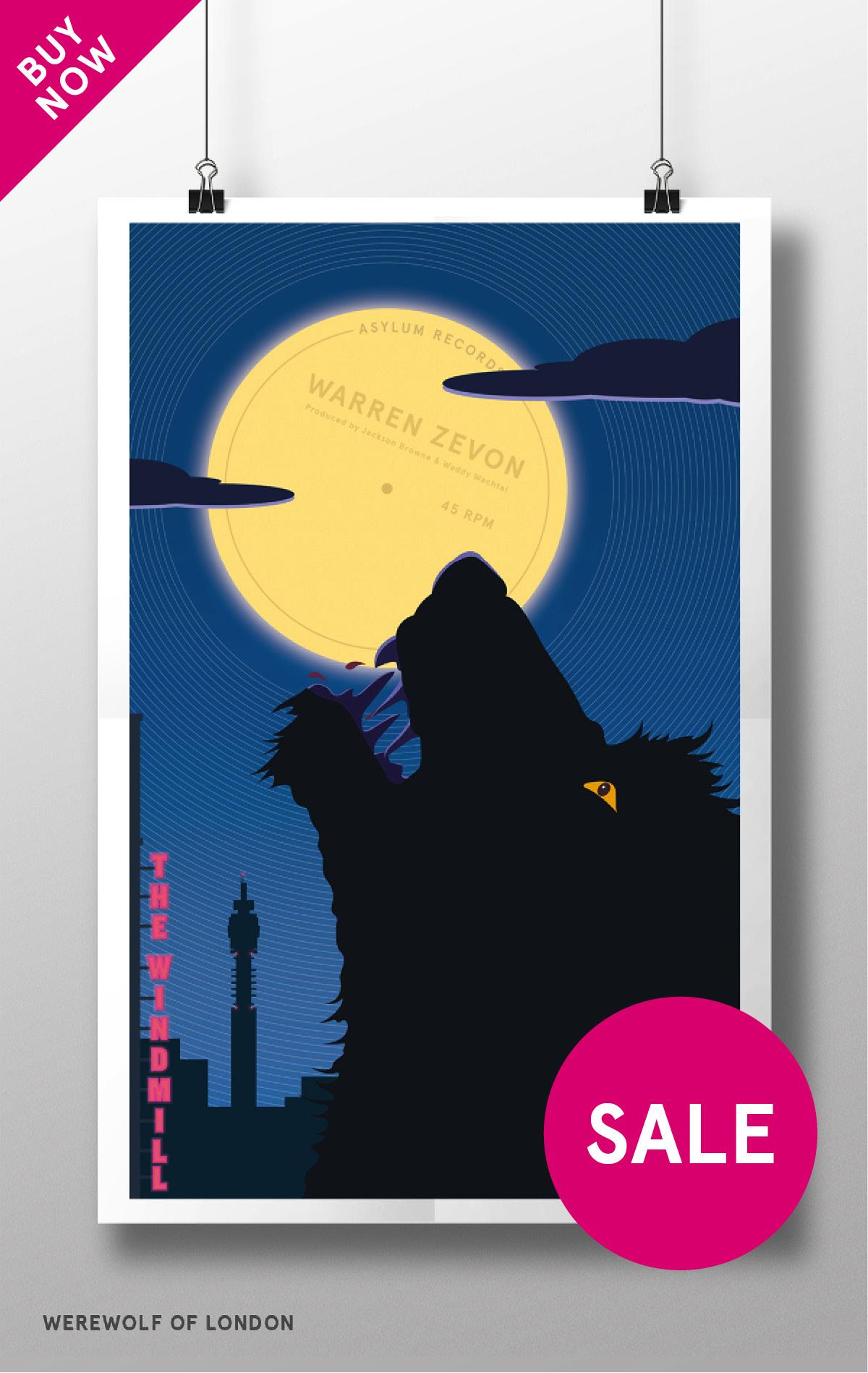 Werewolf of London Pos, Warren Zevon