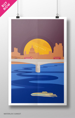 Waterloo Sunset Poster, The Kinks