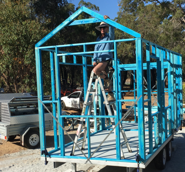 Frame being built by Jason