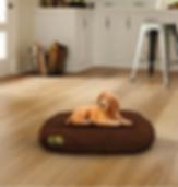 Oval waterproof bed brown.png
