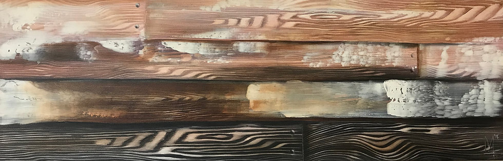 """Wood Panel #9 Brown"" - Original Painting"